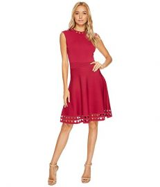Ted Baker Kathryn Cutwork Knitted Skater Dress at Zappos