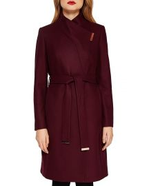 Ted Baker Kikiie Wool-Blend Long Wrap Coat at Bloomingdales