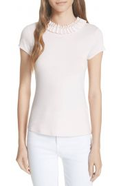 Ted Baker London Nickita Imitation Pearl Neck Top at Nordstrom