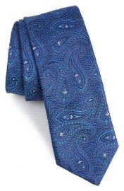 Ted Baker London Paisley Silk Tie in Blue at Nordstrom