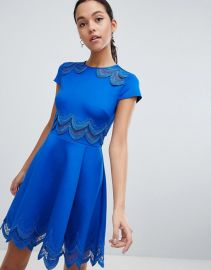 Ted Baker Rehanna Embroidered Skater Dress at asos com at Asos