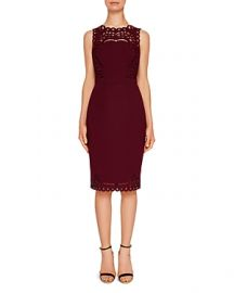Ted Baker Verita Cutwork Sheath Dress at Bloomingdales