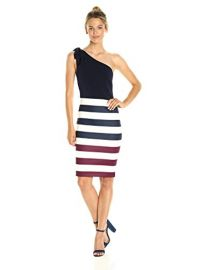 Ted Baker Women s Hilila Rowing Stripe One Shoulder Dress at Amazon