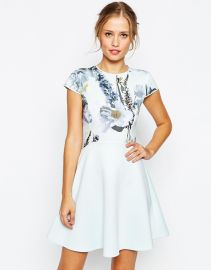 Ted Baker  Ted Baker Faythe Torchlit Floral Skater Dress at Asos