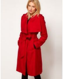 Ted Baker Belted Coat with Big Collar at Ted Baker