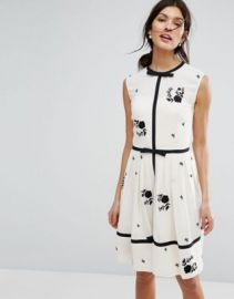 Ted Baker Bow Detail A Line Dress at asos com at Asos