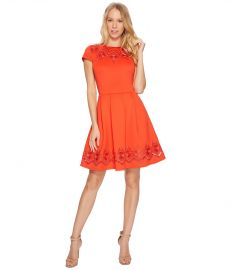 Ted Baker Cheskka Lace and Mesh Skater Dress at Zappos