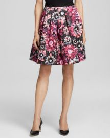 Ted Baker Crystal Brooch Print Full Skirt - Bloomingdaleand039s Exclusive at Bloomingdales