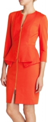 Ted Baker Dress - Jamtye Structured Zip in orange at Bloomingdales