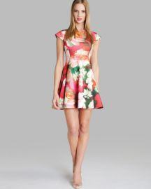 Ted Baker Dress - Roziey Rose Print at Bloomingdales