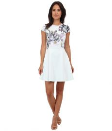 Ted Baker Faythe Torchlit Floral Skater Dress at Zappos