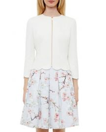 Ted Baker Heraly Scalloped-Edge Jacket at Bloomingdales