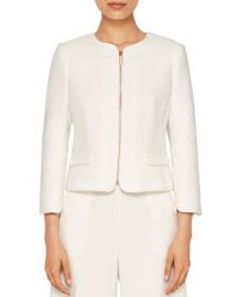 Ted Baker Ila Scallop-Detail Zip Jacket at Bloomingdales