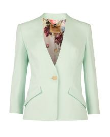 Ted Baker Jacket - Ellsie Curved Hem in mint at Bloomingdales