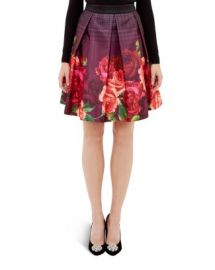 Ted Baker Klira Juxtapose Rose Border Skirt at Bloomingdales