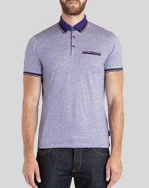 Ted Baker Kyroe Oxford Polo in Purple at Bloomingdales