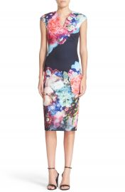 Ted Baker London  Brynee  Floral Print Neoprene Sheath Dress at Nordstrom