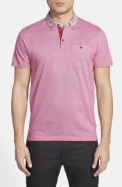 Ted Baker London  Skylaar  Short Sleeve Woven Polo at Nordstrom