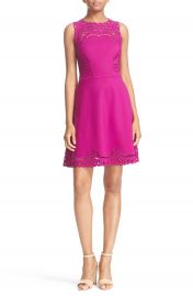 Ted Baker London  Verony  Eyelet Embroidered Skater Dress at Nordstrom