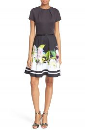 Ted Baker London  Vidaa  Floral Fit   Flare Dress at Nordstrom