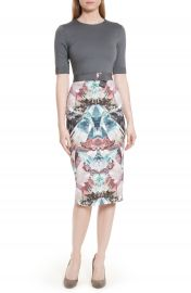 Ted Baker London Anaste Mirror Minerals Print Dress at Nordstrom