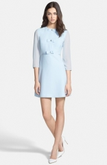 Ted Baker London Bow Detail Stretch A-Line Dress at Nordstrom