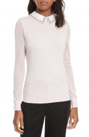 Ted Baker London Braydey Embellished Collar Sweater at Nordstrom