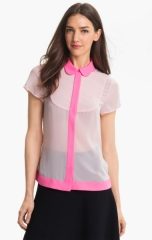 Ted Baker London Crepe Top in pink at Nordstrom