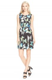 Ted Baker London Engrid Butterfly Print Pleated Dress at Nordstrom