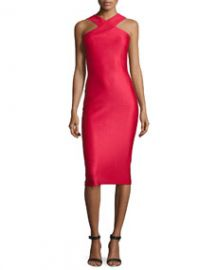 Ted Baker London Erskine Snake-Embossed Sheath Dress Red at Neiman Marcus