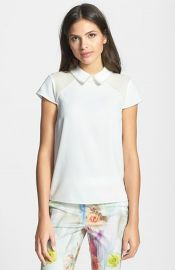 Ted Baker London Faux Pearl Embellished Top at Nordstrom