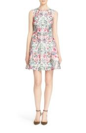 Ted Baker London Gaea Floral Print Fit  Flare Dress at Nordstrom