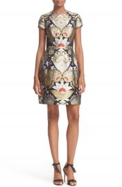 Ted Baker London Imoen Opulent Orient Jacquard Fit   Flare Dress at Nordstrom
