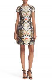 Ted Baker London Imoen Opulent Orient Jacquard Fit   Flare Dress at Nordstrom
