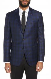 Ted Baker London Jay Trim Fit Plaid Wool Sport Coat at Nordstrom