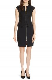 Ted Baker London Kwyli Structured Peplum Body-Con Dress at Nordstrom