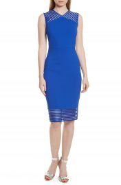 Ted Baker London Lucette Mesh Detail Body Con Dress at Nordstrom