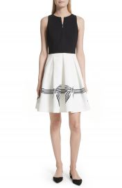 Ted Baker London Natalea Bow Stripe Fit   Flare Dress at Nordstrom