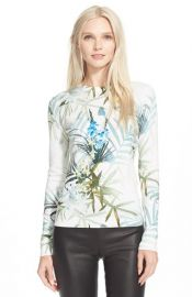 Ted Baker London Nayda Tropical Print Sweater at Nordstrom