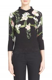 Ted Baker London Nellia Floral Print Cotton Pullover at Nordstrom