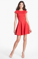 Ted Baker London Tezz Stretch Skater Dress at Nordstrom