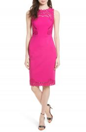 Ted Baker London Verita Cutout Yoke Sheath Dress at Nordstrom