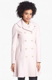 Ted Baker London Wool Blend Peplum Hem Coat at Nordstrom