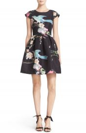 Ted Baker London Zaldana Print Fit   Flare Dress at Nordstrom