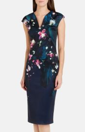 Ted Baker London and39Antonyaand39 Floral Sheath Dress at Nordstrom