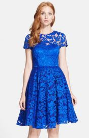 Ted Baker London and39Careeand39 Lace Fit andamp Flare Dress at Nordstrom