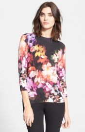 Ted Baker London and39Dumiaand39 Floral Print Sweater at Nordstrom
