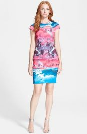 Ted Baker London and39Ismayand39 Print Neoprene Body-Con Dress at Nordstrom