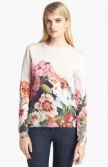 Ted Baker London and39Tangled Floraland39 Print Cotton Sweater at Nordstrom