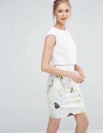 Ted Baker Sneha Layer Dress in Pearly Petals Print at asos com at Asos